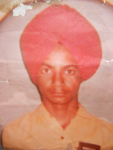 Photo of Harjinder Singh, victim of extrajudicial execution on July 13, 1991, in Bathinda, by Punjab Police