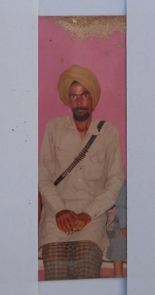 Photo of Pritam Singh, victim of extrajudicial execution, date unknown, in Kot Bhai, by Punjab Police