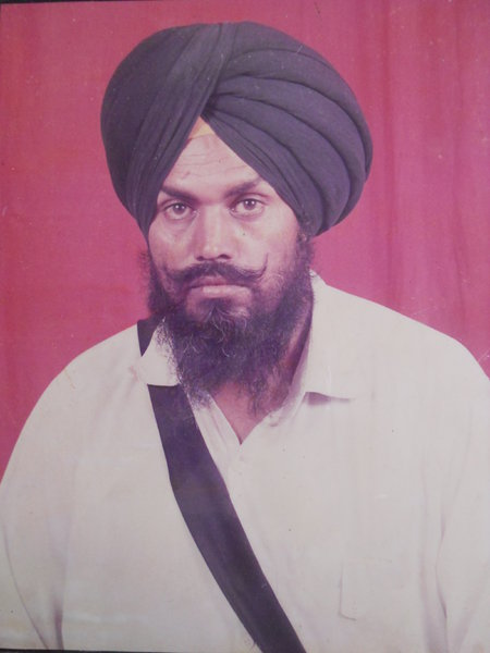 Photo of Darshan Singh, victim of extrajudicial execution on March 06, 1993, in Bathinda CIA Staff, Nehianwala,  by Punjab Police; Criminal Investigation Agency, in Bathinda, by Punjab Police