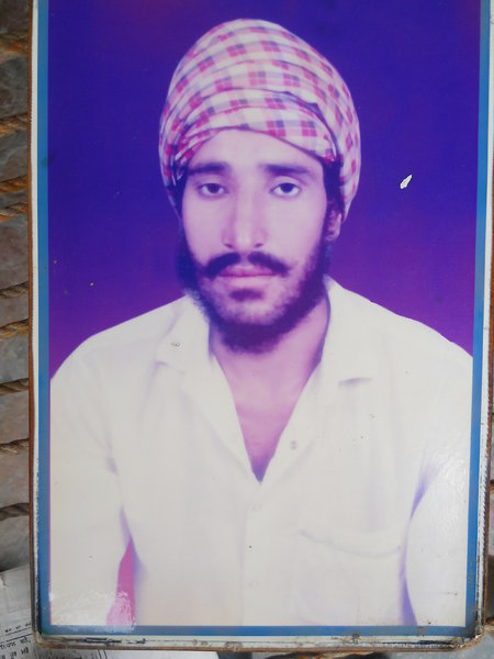 Photo of Kulwant Singh, victim of extrajudicial execution between August 20, 1993 and September 10,  1993, in Bhucho Mandi, by Punjab Police