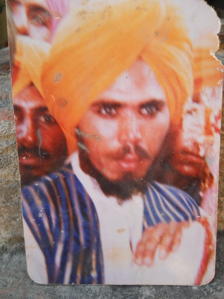 Photo of Balvir Singh, victim of extrajudicial execution between February 1, 1991 and February 28,  1991, in Bhucho Mandi,  by Punjab Police; Central Reserve Police Force; Army, in Bhucho Mandi, by Punjab Police; Central Reserve Police Force; Army