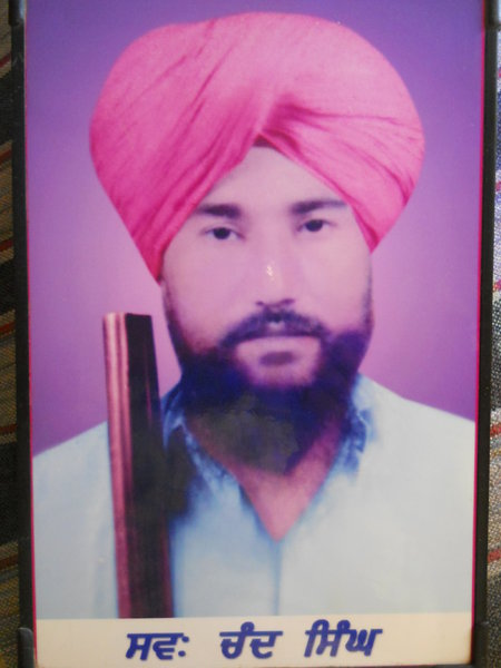 Photo of Chand Singh, victim of extrajudicial execution, date unknown, in Jhuner,  by Punjab Police; Criminal Investigation Agency, in Talwandi Sabo, by Punjab Police