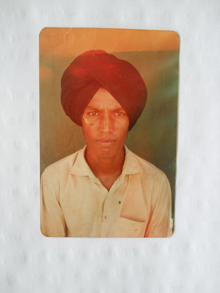 Photo of Dhola Singh, victim of extrajudicial execution between November 1, 1992 and December 31,  1992, in Bhagta, by Punjab Police