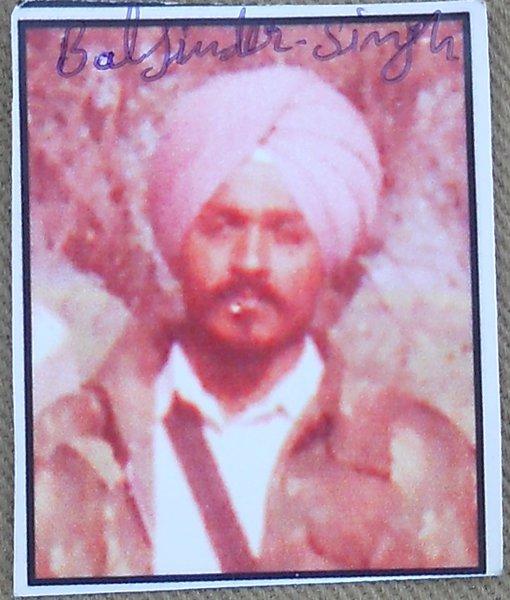 Photo of Baljinder Singh, victim of extrajudicial execution between January 1, 1993 and January 31,  1993, in Bathinda, by Punjab Police