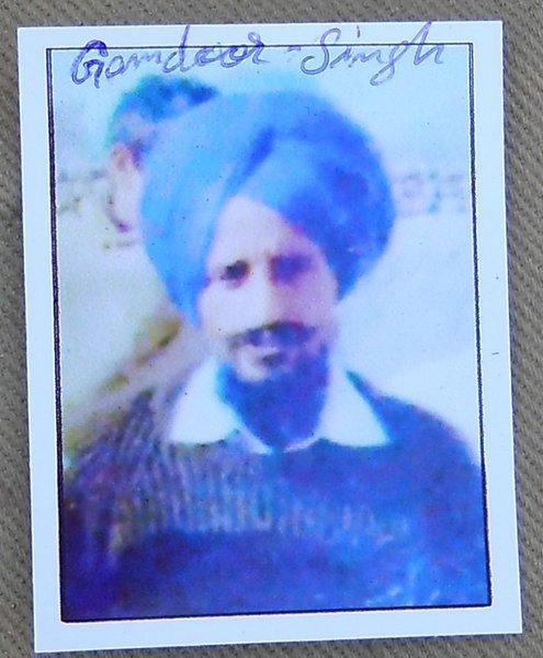 Photo of Gumdhoor Singh,  disappeared on November 12, 1991, in Bathinda,  by Punjab Police