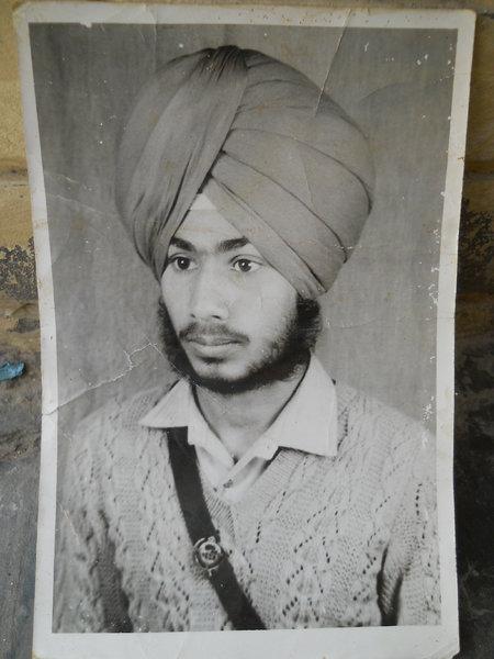 Photo of Pal Singh, victim of extrajudicial execution on April 14, 1990Punjab Police