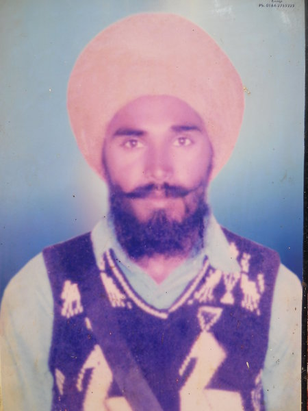 Photo of Jasvir Singh, victim of extrajudicial execution between January 1, 1990 and December 31,  1990, in Goniana, by Punjab Police