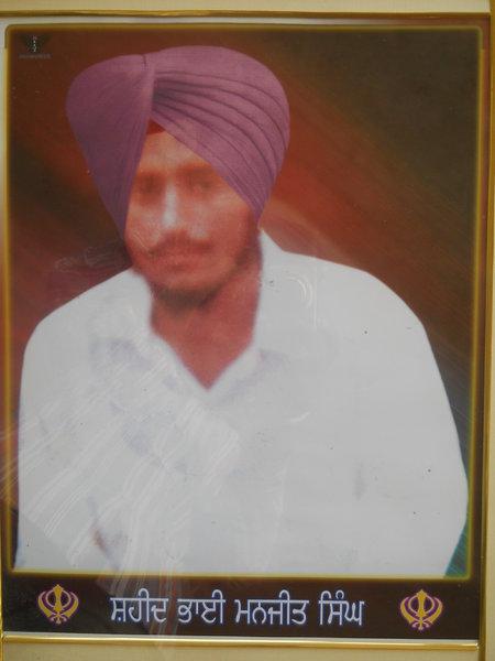 Photo of Manjeet Singh, victim of extrajudicial execution between November 1, 1991 and November 3,  1991, in Bathinda, by Punjab Police