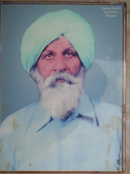 Photo of Atma Singh, victim of extrajudicial execution on August 16, 1993, in Bathinda, Bathinda CIA Staff, by Punjab Police; Criminal Investigation Agency
