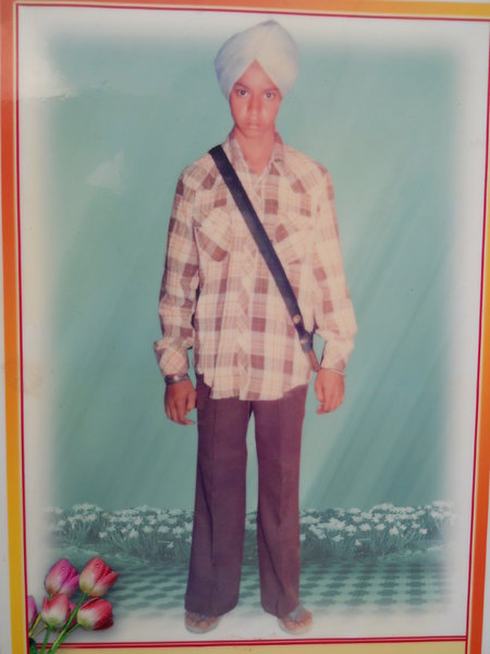 Photo of Baldev Singh, victim of extrajudicial execution between March 1, 1986 and April 30,  1986, in Bhagha Purana, by Punjab Police