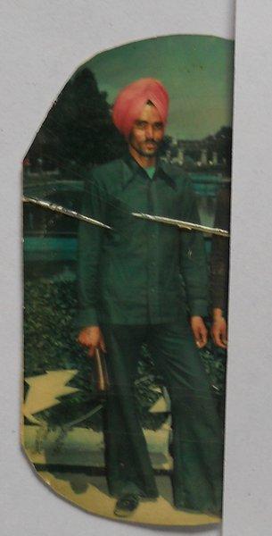 Photo of Kharak Singh, victim of extrajudicial execution on December 31, 1990, in Rampura Phul, by Punjab Police
