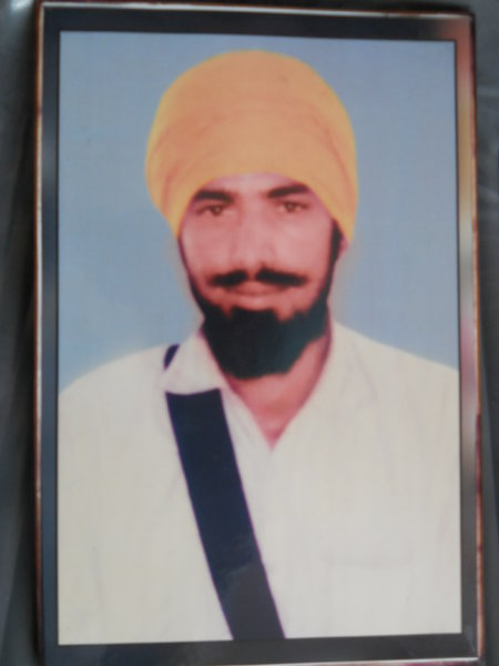 Photo of Malkit Singh, victim of extrajudicial execution on January 06, 1992, in Raisinghnagar,  by Border Security Force, in Kot Bhai, by Punjab Police
