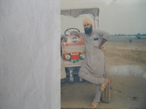 Photo of Makhan Singh, victim of extrajudicial execution, date unknown, in Dyalpura Bhaika, by Punjab Police