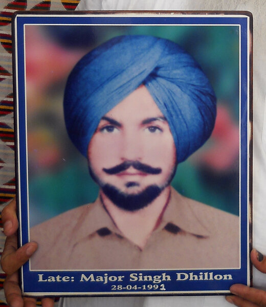 Photo of Major Singh, victim of extrajudicial execution on April 28, 1991, in Raman, by Punjab Police