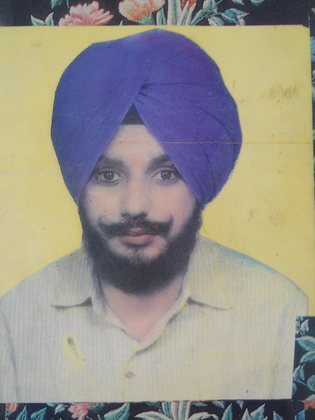 Photo of Bakhtour Singh, victim of extrajudicial execution on March 1, 1989, in Payal, Ludhiana, by Punjab Police