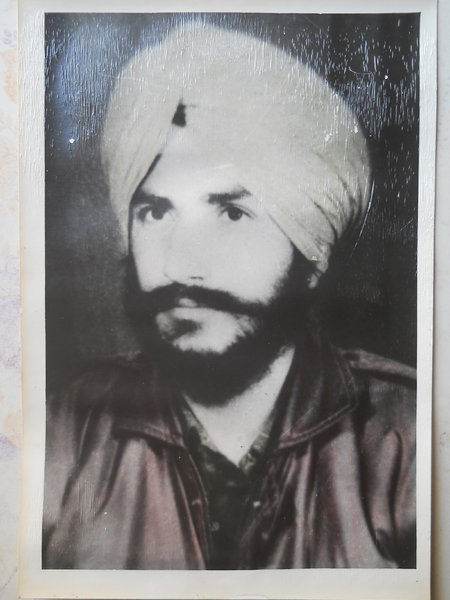 Photo of Gurmeet Singh, victim of extrajudicial execution on October 14, 1990, in Bathinda, Firozpur, Bhucho Mandi, Lambi, by Punjab Police
