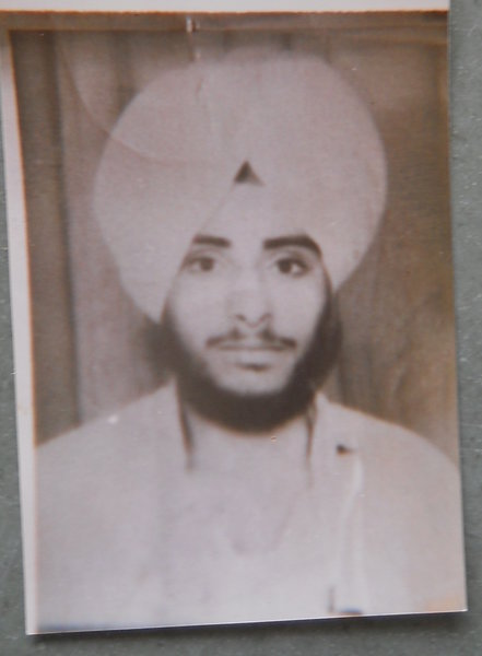 Photo of Jasvir Singh, victim of extrajudicial execution on June 27, 1992, in Bathinda,  by Punjab Police; Central Reserve Police Force, in Phul, by Punjab Police