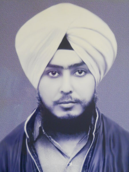 Photo of Daljeet Singh, victim of extrajudicial execution on October 14, 1989, in Amritsar, by Punjab Police