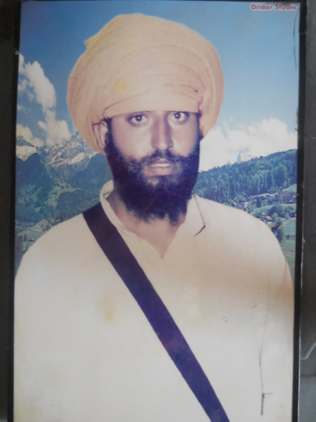 Photo of Dharam Singh, victim of extrajudicial execution on September 12, 1987, in Verowal,  by Punjab Police; Central Reserve Police Force, in Verowal, by Punjab Police; Central Reserve Police Force