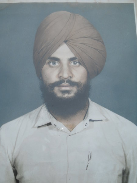 Photo of Paramjit Singh, victim of extrajudicial execution on May 14, 1988 by Punjab Police; Central Reserve Police ForcePunjab Police