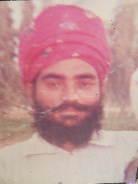 Photo of Sukhdev Singh, victim of extrajudicial execution on May 26, 1990, in Jhabal Kalan, by Punjab Police