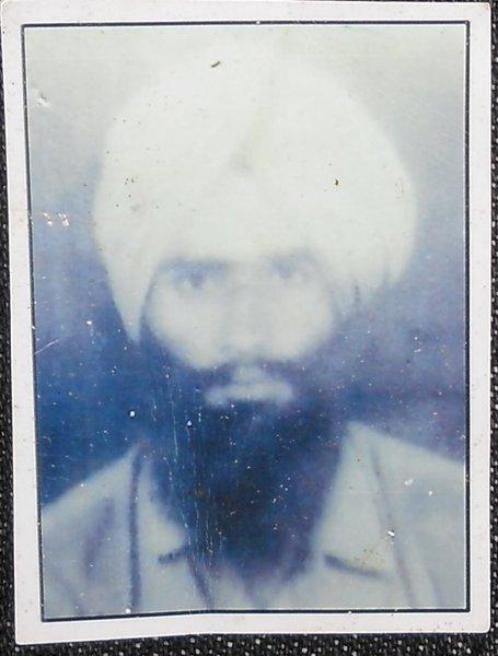 Photo of Jagdish Singh, victim of extrajudicial execution on July 03, 1989Punjab Police