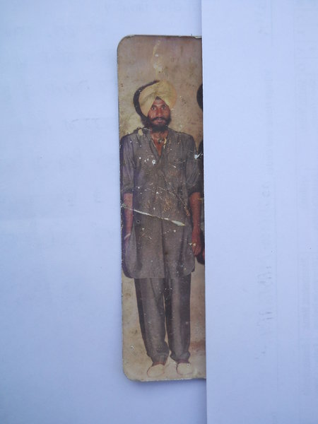Photo of Samma Singh, victim of extrajudicial execution on March 10, 1991Punjab Police