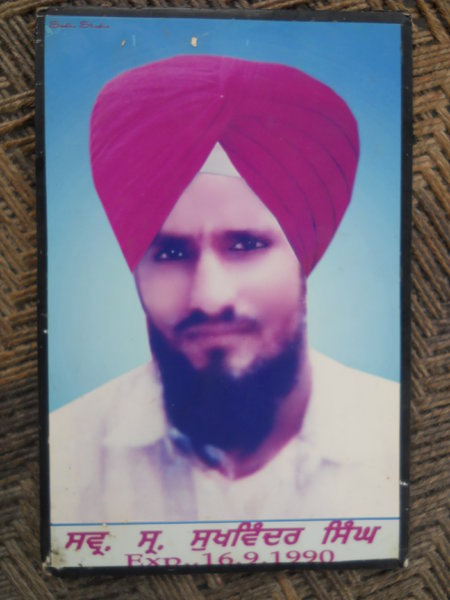 Photo of Sukhwinder Singh, victim of extrajudicial execution on September 16, 1990, in Valtoha, by Punjab Police