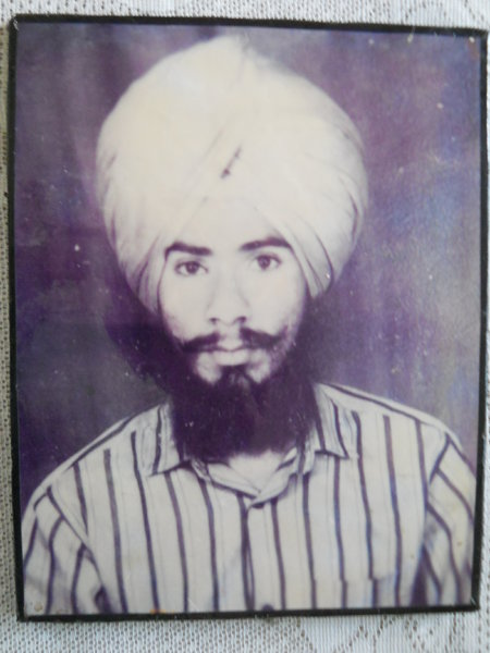 Photo of Baljit Singh, victim of extrajudicial execution between December 7, 1988 and December 15,  1988Punjab Police