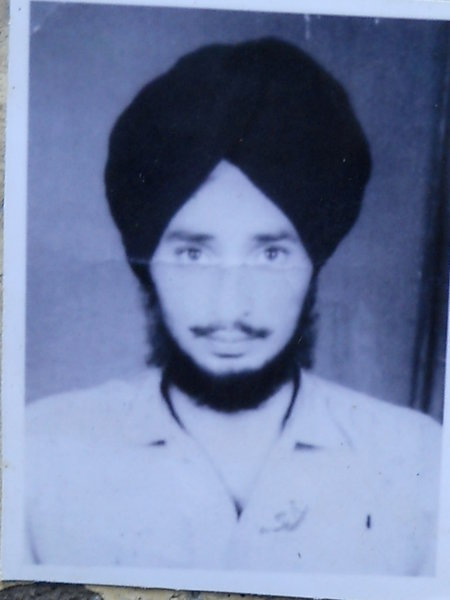 Photo of Gurmukh Singh, victim of extrajudicial execution between April 20, 1990 and April 25,  1990, in Kapurthala, by Punjab Police