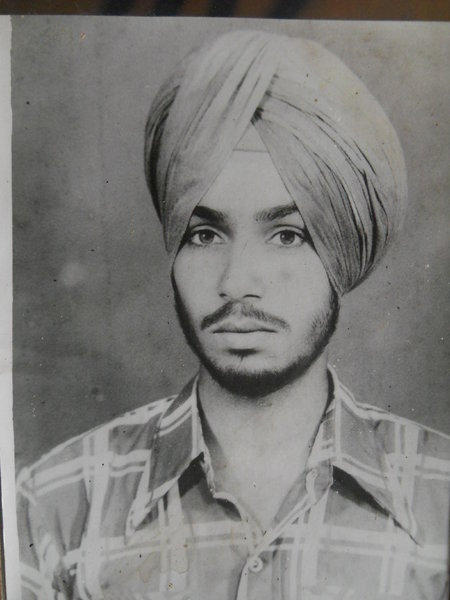 Photo of Harpal Singh Bhatti, victim of extrajudicial execution on June 08, 1984, in Kathu Nangal,  by Army, in Kathu Nangal, by Army