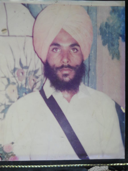 Photo of Jagir Singh, victim of extrajudicial execution on March 10, 1988, in Amritsar, by Punjab Police
