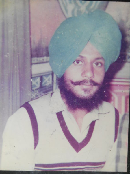 Photo of Dalbir Singh, victim of extrajudicial execution on February 14, 1988, in Verowal, 29th Battalion CRPF Camp,  by Punjab Police; Central Reserve Police Force, in Verowal, by Punjab Police