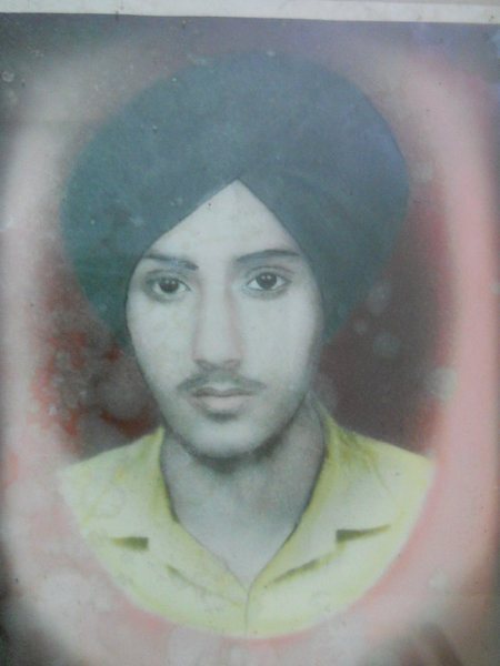 Photo of Harminderpal Singh, victim of extrajudicial execution on May 20, 1989, in Beas, by Punjab Police