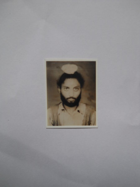 Photo of Dilbagh Singh, victim of extrajudicial execution on July 28, 1991, in Amritsar, Tarn Taran, Gurdaspur,  by Punjab Police; Central Reserve Police Force, in Bhikhiwind, by Punjab Police