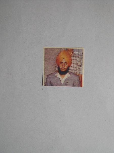 Photo of Baljinder Singh, victim of extrajudicial execution between January 4, 1991 and January 7,  1991, in Kapurthala, by Punjab Police