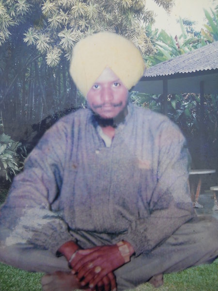 Photo of Pargat Singh, victim of extrajudicial execution on January 01, 1992, in Bhikhiwind, Jhabal Kalan,  by Punjab Police; Central Reserve Police Force, in Bhikhiwind, by Punjab Police
