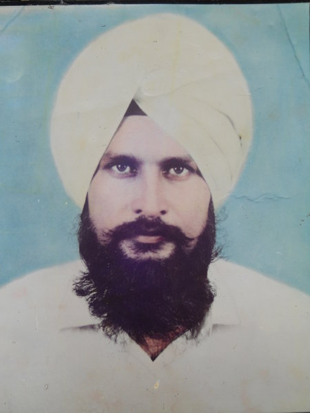 Photo of Sarabpal Singh, victim of extrajudicial execution on September 20, 1990, in Patti, by Punjab Police