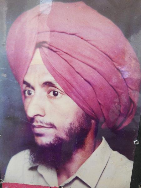 Photo of Harbans Singh, victim of extrajudicial execution on November 7, 1992, in Sabhrai, by Punjab Police
