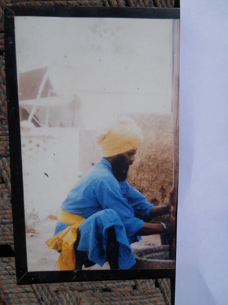 Photo of Nanak Singh, victim of extrajudicial execution between May 1, 1992 and July 6,  1992, in Goindwal, by Punjab Police