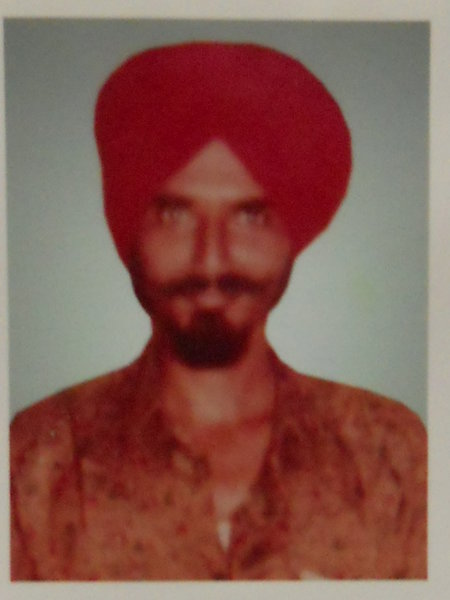 Photo of Jogga Singh, victim of extrajudicial execution on December 02, 1992, in Makhu, by Punjab Police