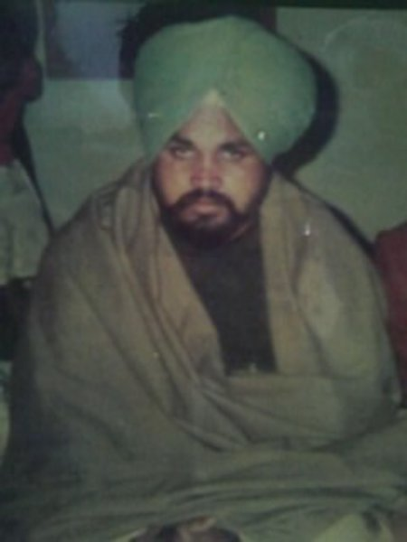 Photo of Kuldeep Singh, victim of extrajudicial execution between June 26, 1993 and June 30,  1993, in Tarn Taran, by Punjab Police