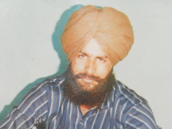 Photo of Davinder Singh, victim of extrajudicial execution between March 15, 1989 and March 30,  1989, in Amritsar,  by Punjab Police; Central Reserve Police ForcePunjab Police