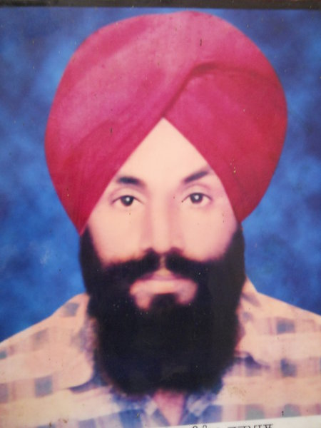 Photo of Manjeet Singh, victim of extrajudicial execution on March 14, 1992, in Jandiala, by Punjab Police