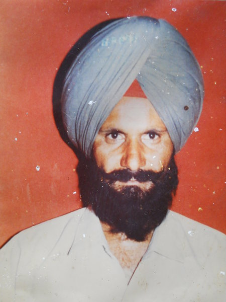 Photo of Jagjeet Singh, victim of extrajudicial execution on September 27, 1990, in Tarn Taran, Jandiala,  by Punjab Police; Central Reserve Police Force, in Jandiala, by Punjab Police