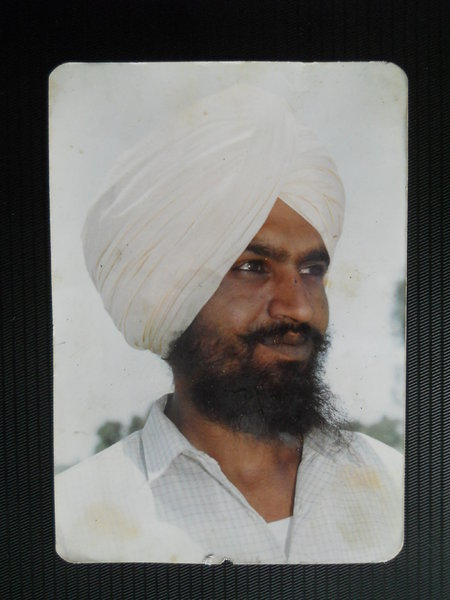 Photo of Avtar Singh, victim of extrajudicial execution between January 31, 1992 and February 3,  1992, in Jhabal Kalan, by Punjab Police