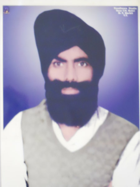 Photo of Tegha Singh, victim of extrajudicial execution on November 5, 1988, in Tarn Taran, by Punjab Police
