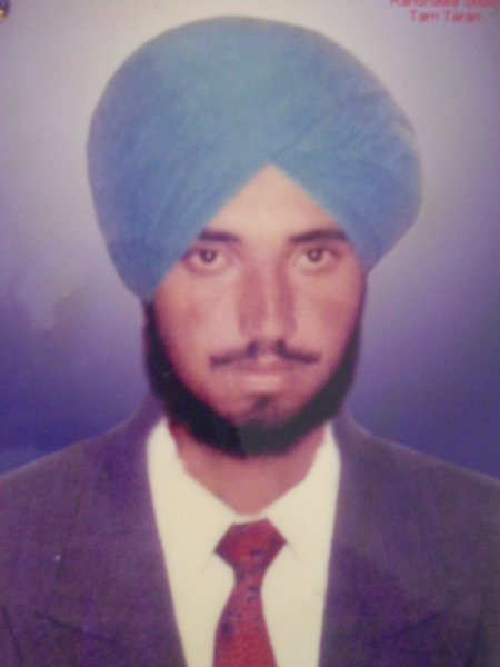 Photo of Subek Singh, victim of extrajudicial execution between June 15, 1990 and July 16,  1990, in Bhikhiwind, by Punjab Police