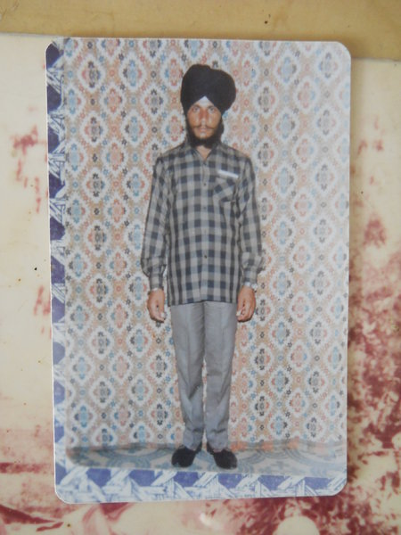 Photo of Virsa Singh, victim of extrajudicial execution on May 10, 1987, in Harike, by Punjab Police