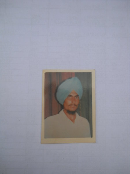 Photo of Amrik Singh, victim of extrajudicial execution on June 13, 1993, in Kairon, by Punjab Police